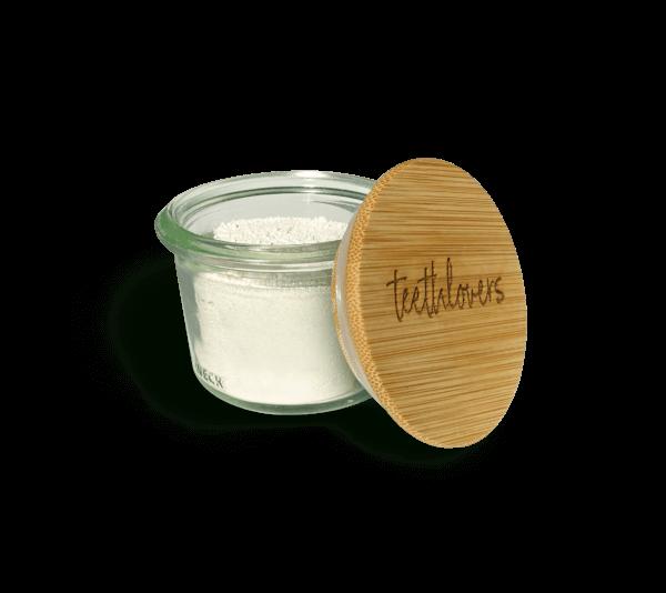 teethlovers Bio-Zahnpulver Glas mit Bambusdeckel