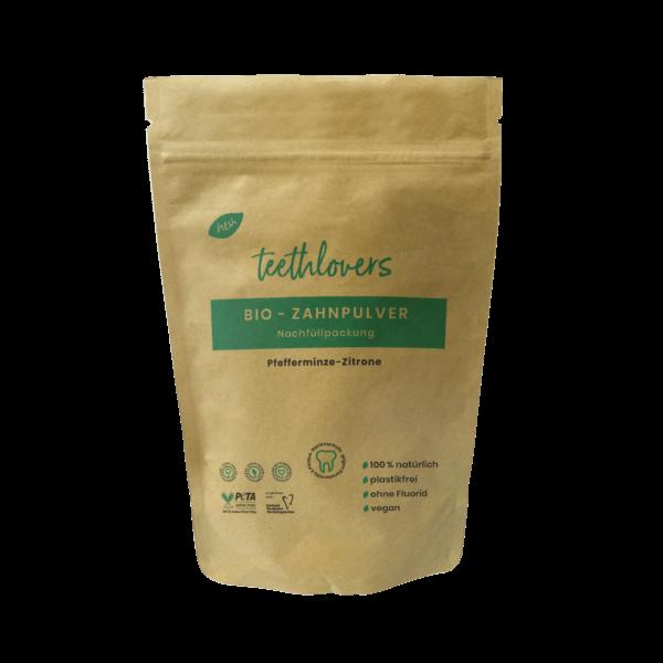 teethlovers kompostierbare Nachfüllpackung Pfefferminz-Zitrone